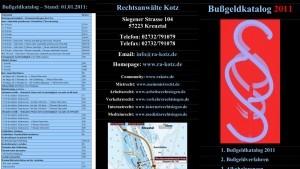 bussgeldkatalog2011